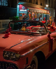 Pink Cadillac Cruisin' Down the Street