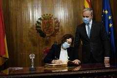 Díaz Ayuso se reúne con el alcalde de Zaragoza y destaca el papel del municipalismo durante la pandemia