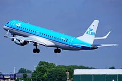 PH-EXA ERJ190STD (ERJ190-100) KLM Cityhopper  Schiphol 17-06-17