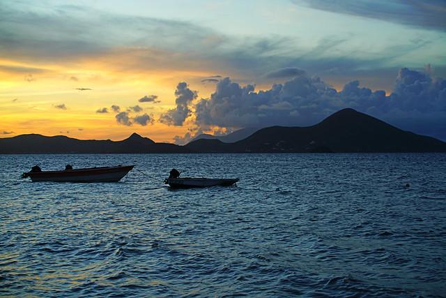 Serenity of Caribbean evening, St Kitts & Nevis