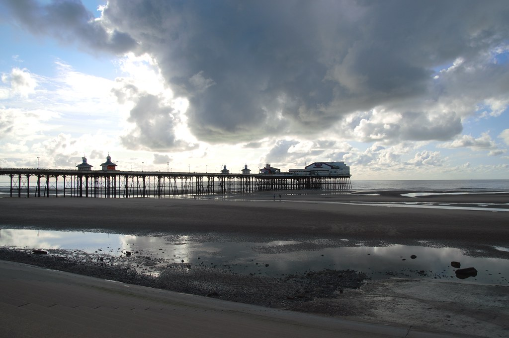 Clouds over the pier at Blackpool