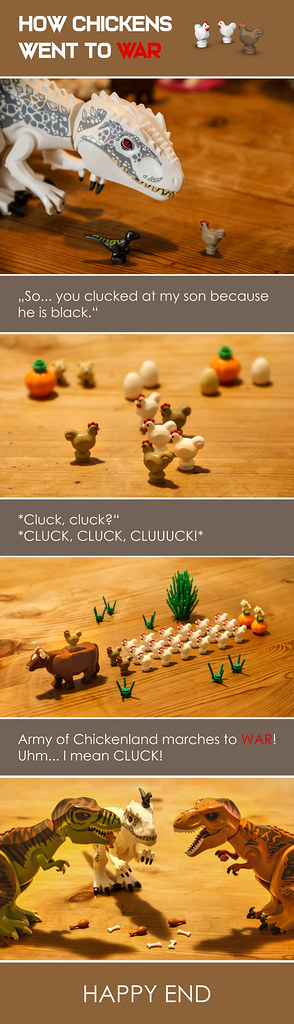 LEGO TABLE COMICS: Chicken war