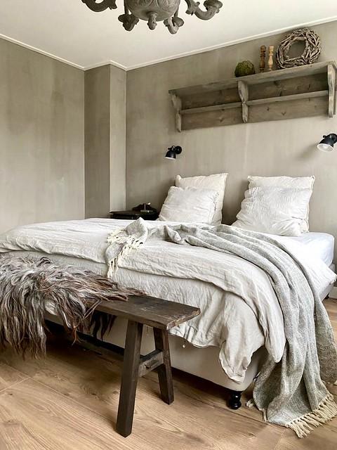 Slaapkamer naturel landelijke stijl