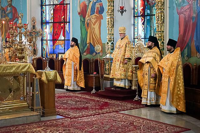 Архиерейское служение в день памяти апостола и евангелиста Матфея 29.11.2020