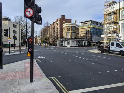 Malden Road junction close up