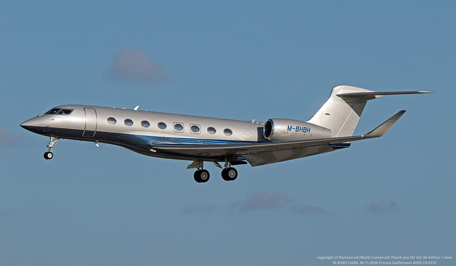M-BHBH LMML 30-11-2020 Private Gulfstream G650 CN 6132