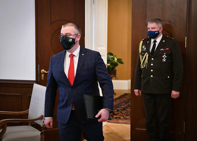 30.11.2020. Valsts prezidents Egils Levits tiekas ar Korupcijas novēršanas un apkarošanas biroja priekšnieku Jēkabu Straumi