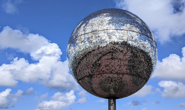 The massive glitter ball on Blackpool prom