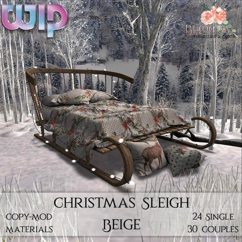 Bloom! – Christmas Sleigh Beige (PG) AD1