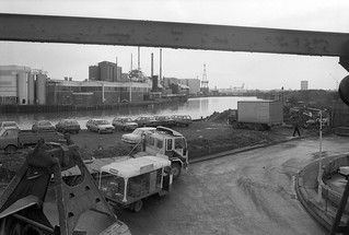 Bow Creek, Pura Foods, Essex Wharf, Wharfside Rd, East India Dock Rd, Newham, Tower Hamlets, 1989 89-4b12_2400
