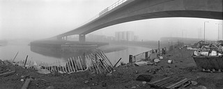 DLR Viaduct, Bow Creek, Leamouth Rd, Leamouth, Tower Hamlets, Newham, 1982 92-1j61pr_2400