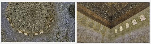 CEILING AND WALL ARTWORK, ALHAMBRA, GRANADA, SPAIN