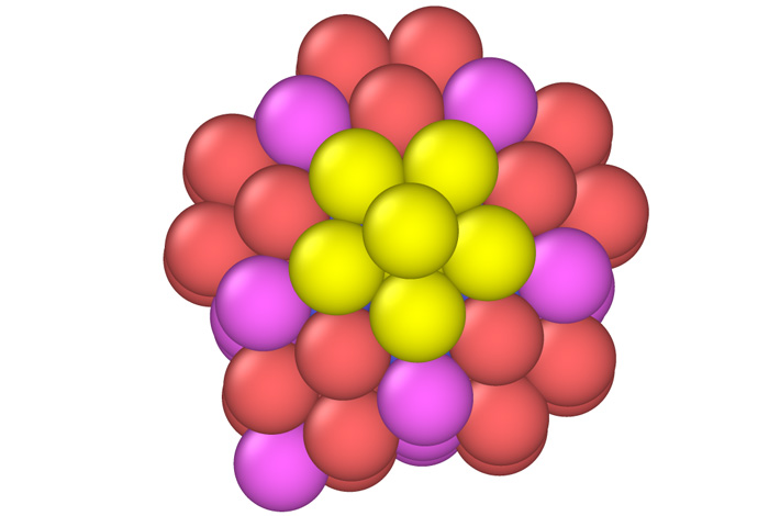A platinum nanoparticle simulated with the EXAALT code. Understanding materials through computer simulations has long been a goal in the material science community.