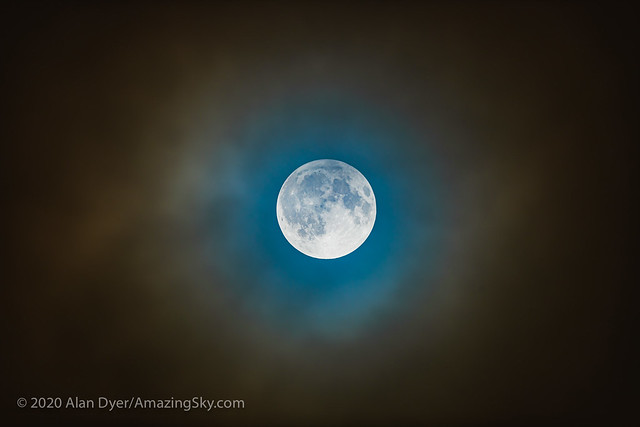 Penumbral Lunar Eclipse in Clouds