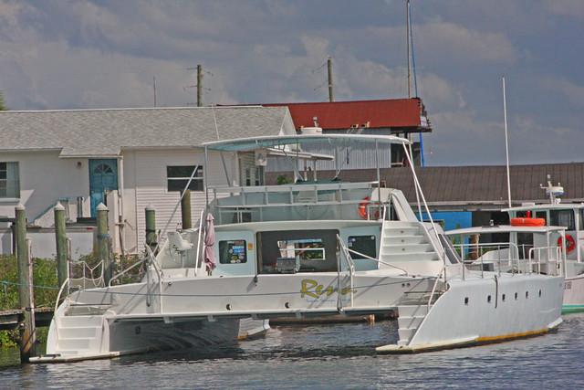 Catamaran RENA, Anclote River,Tarpon Springs, Florida