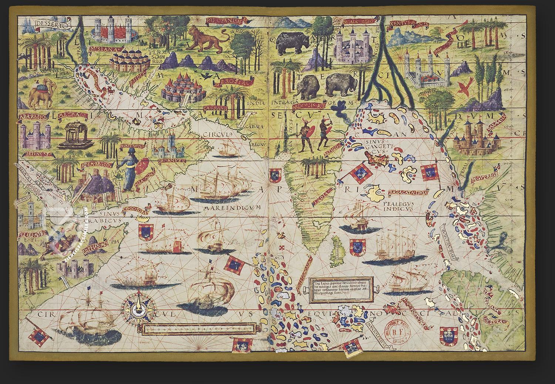 Índia (Lopo Homem, in Atlas de Lopo Homem-Reinéis, 1519)