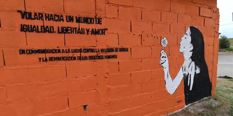 Barrio Los Olmos Un mural de 30 metros contra la violencia de género (2)
