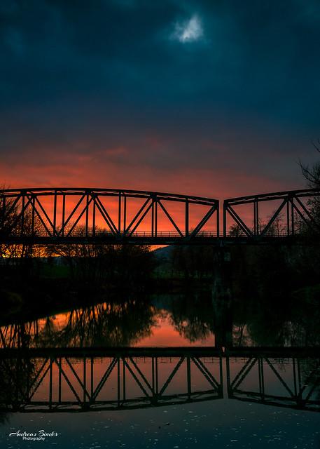 Sonnenuntergang bei der Pfeiler Lacke