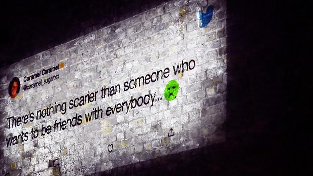 Tweet on the wall