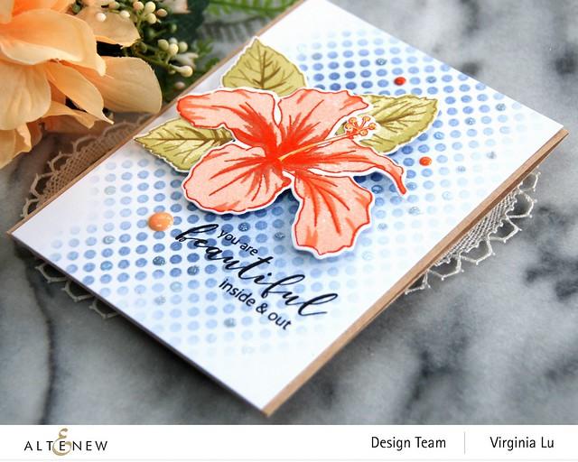 Atenew-Quiet Reflections Crisp Dye Ink Oval Bundle-You Are Beautiful Stamp & Die Bundle-Feeling Dotty Stencil -002