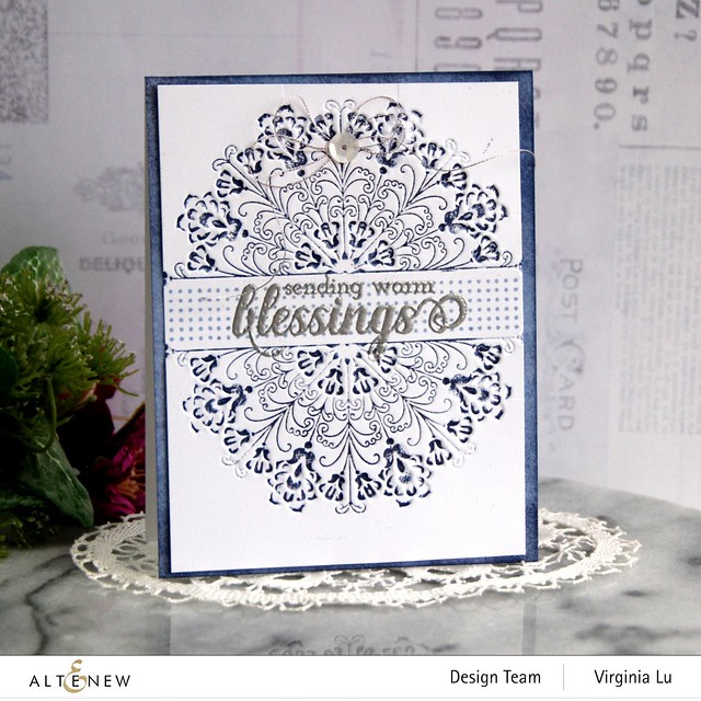 Altenew-Ornamental Feature 3D Embossing Folder-Dots and Boxes Stamp Set-Arctic Mountain Crisp Dye Ink