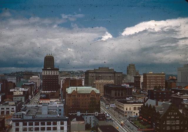 Downtown Seattle, circa 1958