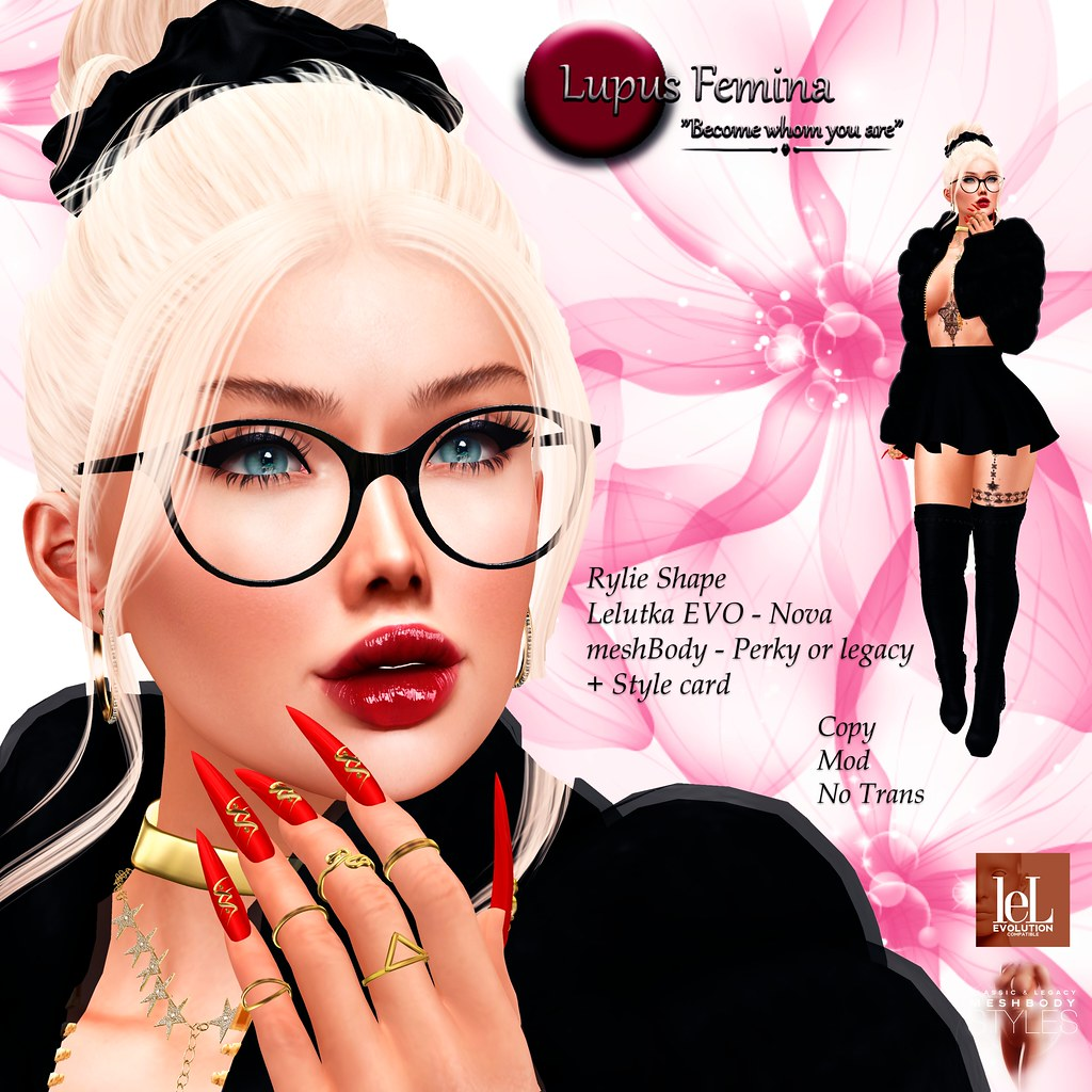 """Lupus Femina"" Rylie Shape – Lelutka EVO Nova"