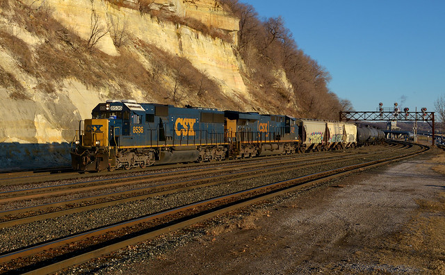 CSX 8536- Long shadows