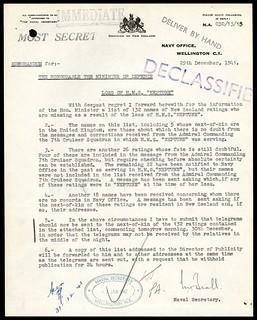 "Intelligence - Movements of HM ships - HMS ""Neptune"" (ship) - January 1941 - April 1945"