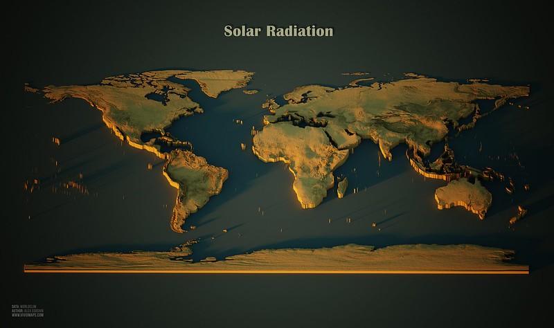 Map of Solar Radiation