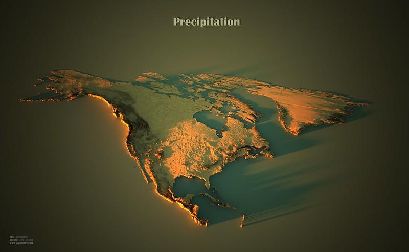 Precipitation in North America