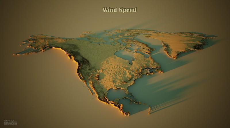 Wind Speed in North America