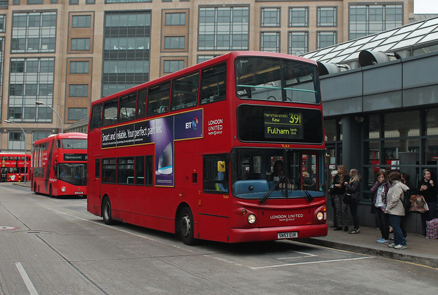 Route 391, London United, TLA4, SN53EUK
