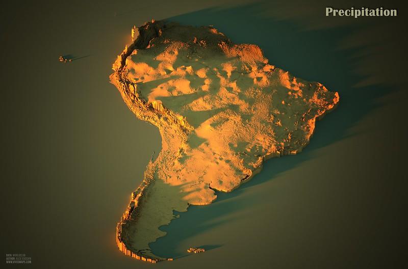 Precipitation in South America