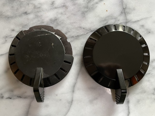 Old broken lid and its replacement