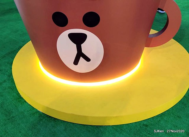 Christmas decoration with Line Friends brand at the Uni-Ustyle department store , Taipei, Taiwan, SJKen , Nov 21, 2020.