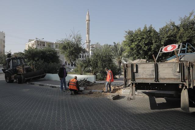 أعمال تهيئة دوار فلسطين لذوي الاحتياجات الخاصة