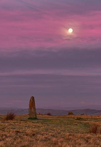 moon sunrise landscape