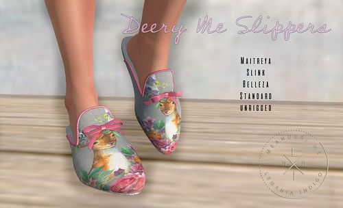 Dreamy December 1 - Deery Me Slippers 1L