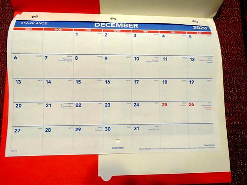 December 2020 Diary