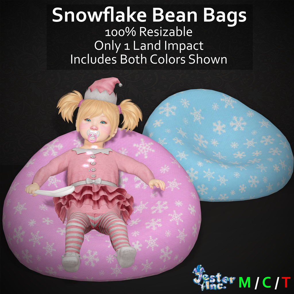 Presenting the new Snowflake Bean Bags from Jester Inc.