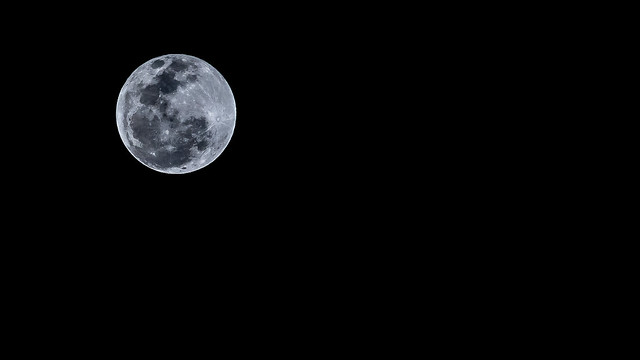 Yesterday's Full Moon