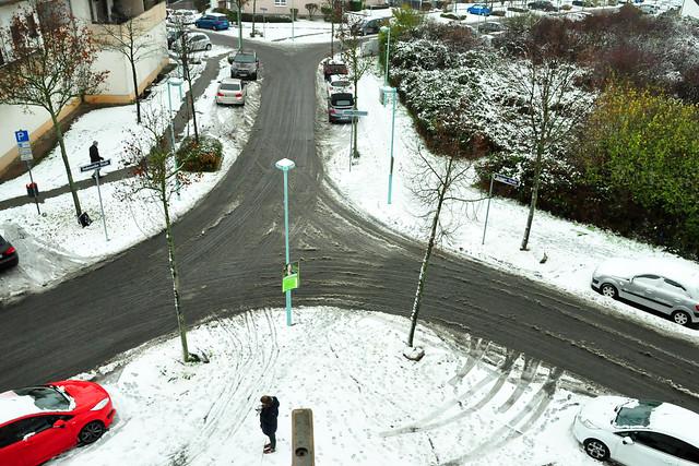 1. Dezember 2020 ... Schnee und Mannemer Dreck ... Brigitte Stolle