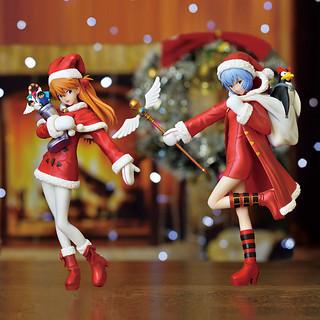 EVASTORE限定 SEGA景品「聖誕節 明日香&零 ver.1.5」Christmas FIGURE大掛布套組