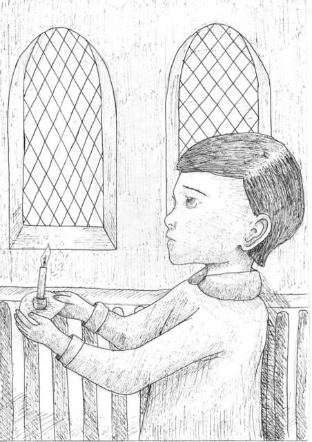 Омельницкая Екатерина (12 лет, г. Оренбург). Миша в церкви на крещении детей