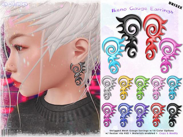 [ bubble ] Ikeno Gauge Earrings
