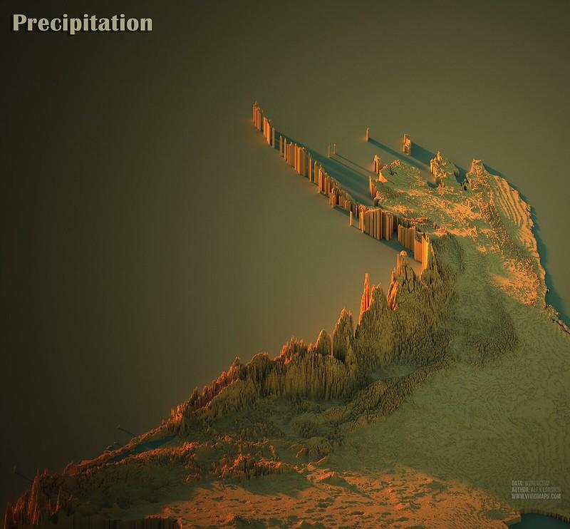 Precipitation in North American Cordillera
