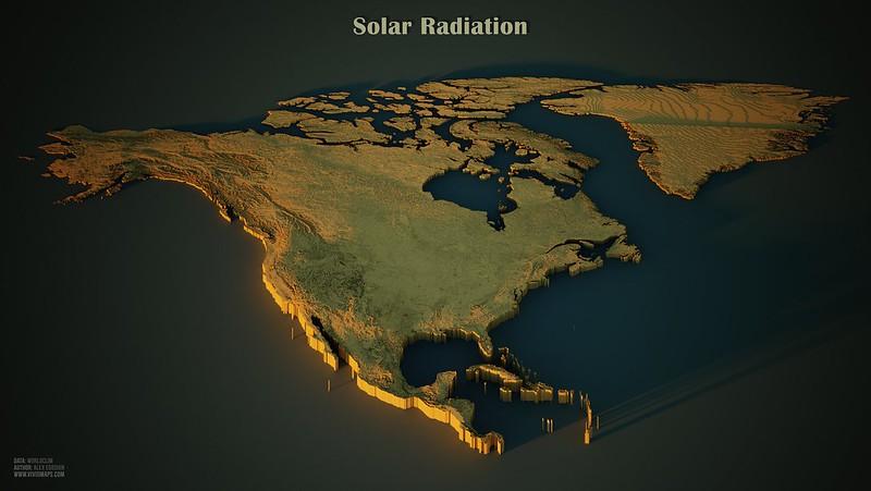 Solar Radiation in North America