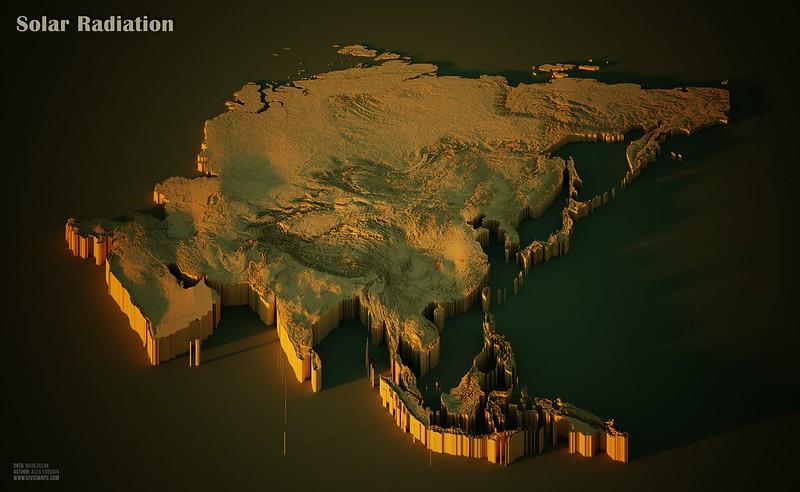 Solar Radiation in Asia