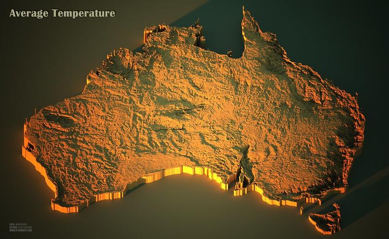 Average temperatures in Australia